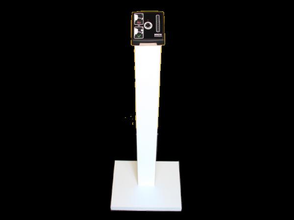 Stele/Stehle für SmartXcan KMS-TI-FS in Holzausführung weiss